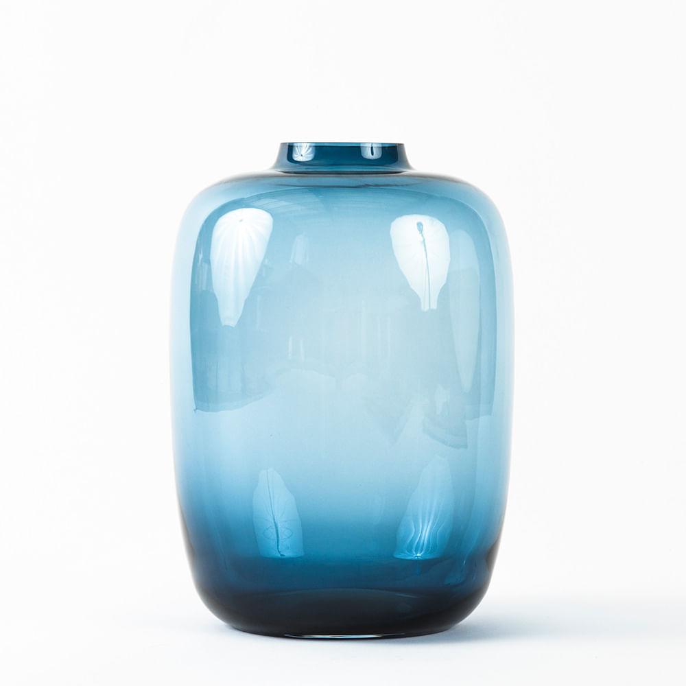 Florero Saphire Azul 35×25 Cm Mobica # Muebles Saphire