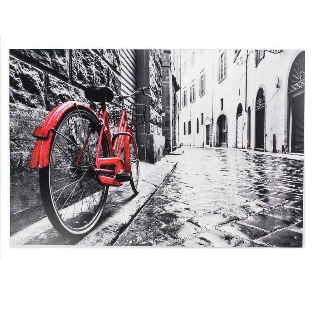 Cuadro Bicicleta Roja 120x80cm - mobica