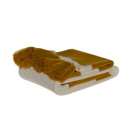 MO26294-Throw-Hueso-Oro-con-pompones-Oro